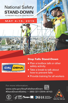 National Safety Stand Down Poster