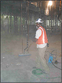 Hazards of silica in construction etool for Cleaning concrete dust